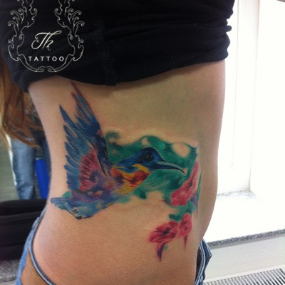 Tatuaj Colibri_ Hummingbird Tattoo, Tatuaj watercolor, Tatuaje bucuresti, tatuaje, tattoo